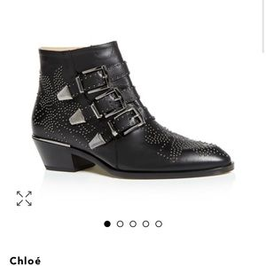 Chloe Susanna pointed toe studded booties size 41